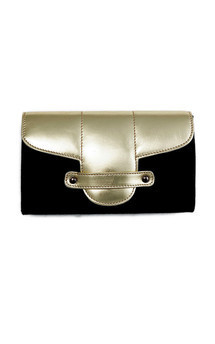 Bond street in black canvas and gold leather by Torula Bags Product photo