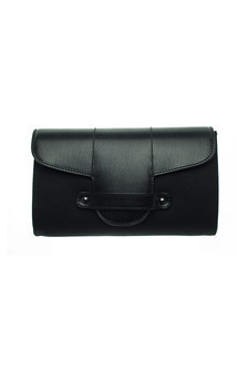 Bond street in black canvas and black leather by Torula Bags Product photo