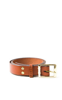 Milfield belt tan::Dark brown edge by Meryn Product photo
