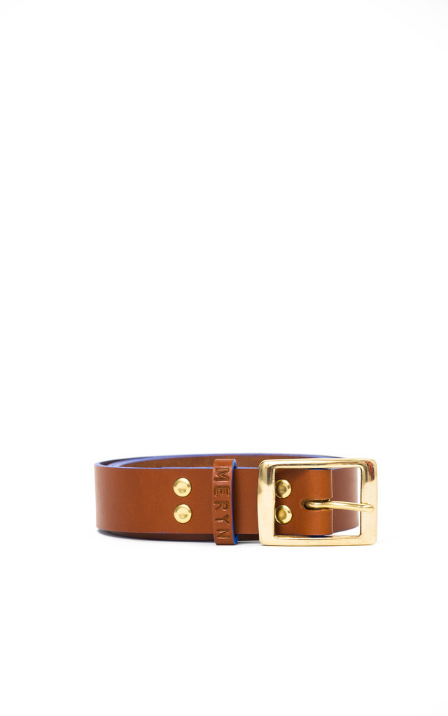 Henley Belt Tan/Azure by Meryn