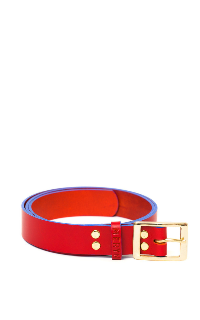 Henley Belt Red/Azure by Meryn