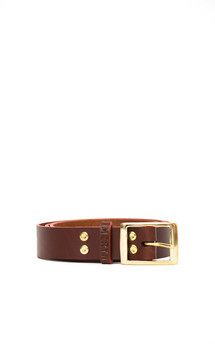 Henley belt chocolate::Red by Meryn Product photo