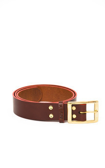 Marlow belt chocolate::Red by Meryn Product photo