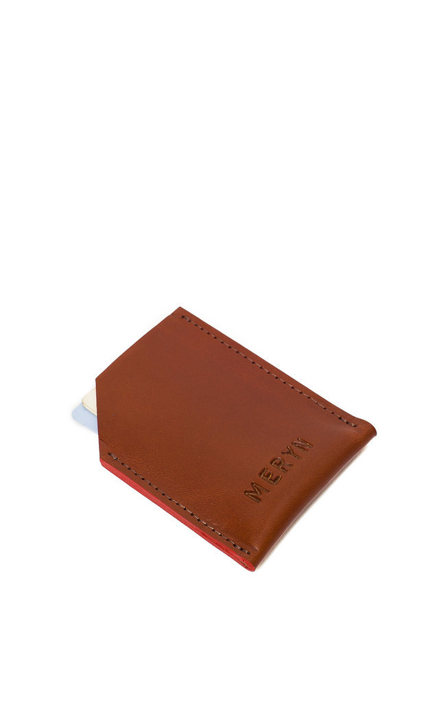 George Card Wallet Tan/Red by Meryn