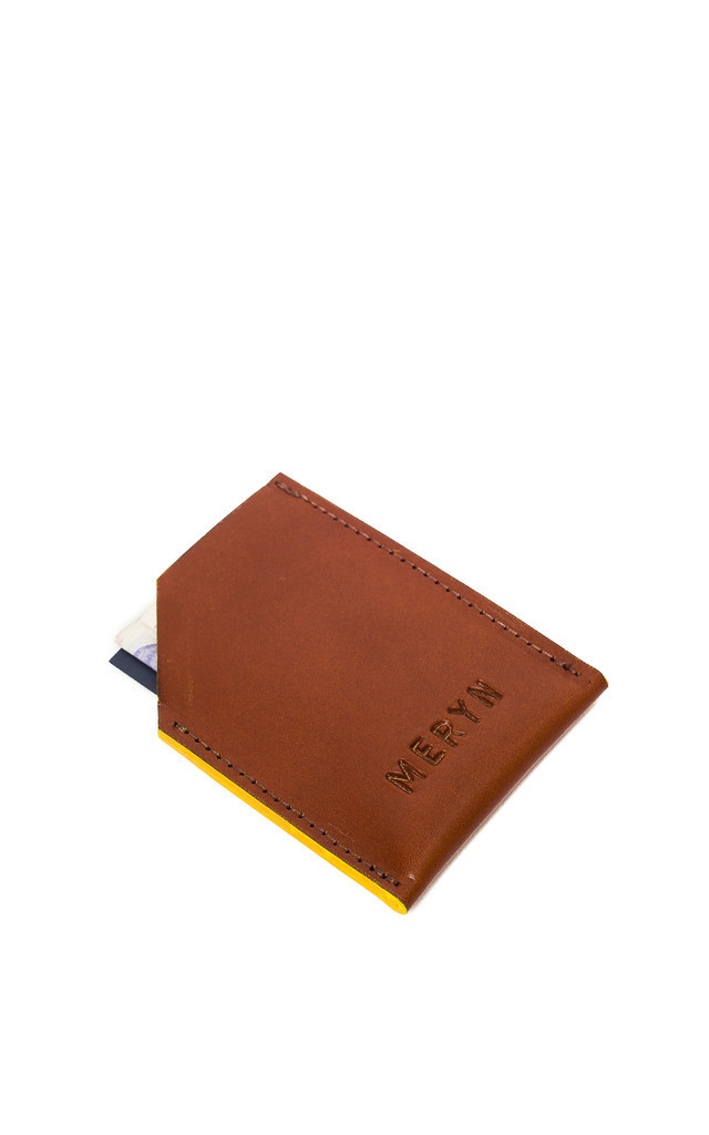 George Card Wallet Tan/Yellow by Meryn