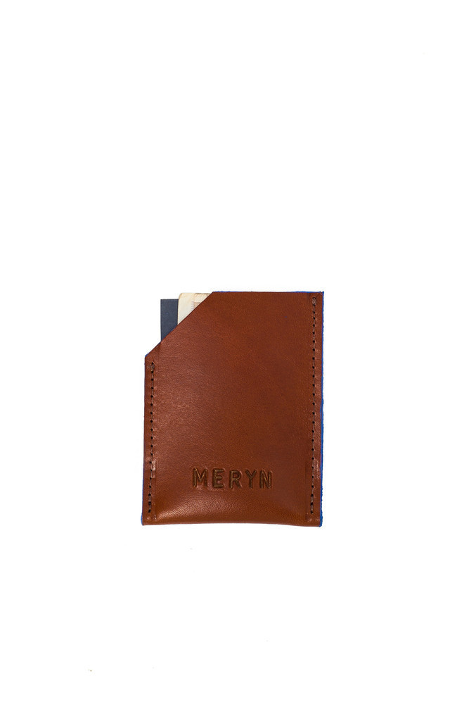 George Card Wallet Tan/Azure by Meryn