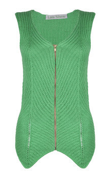 Green leaf vest by Lana Siberie Product photo