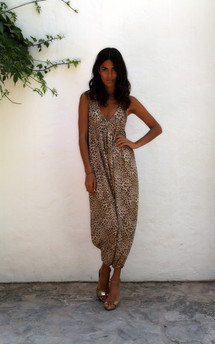 Genie jumpsuit in leopard  by Dancing Leopard Product photo