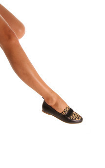 Flo black & cheetah flats by Taschka Product photo