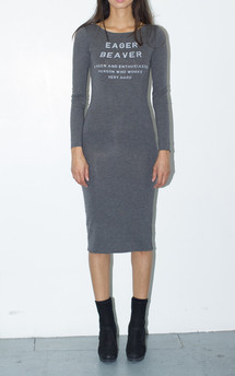 Eager beaver midi dress by The English Tee Shop Product photo