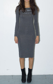 Deep in thought midi dress by The English Tee Shop Product photo