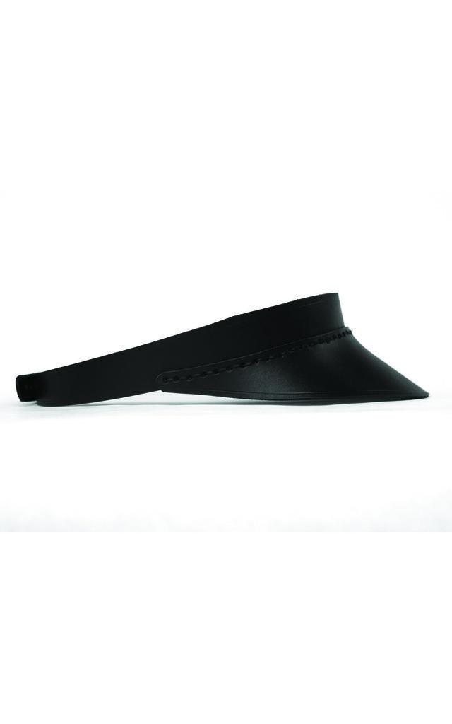 Leather Visor - Black by C.S