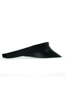 Leather visor - black by C.S Product photo