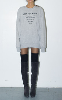 Lost for words unisex sweatshirt by The English Tee Shop Product photo