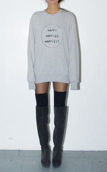 Happy happier happiest unisex sweatshirt by The English Tee Shop Product photo