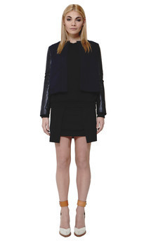 Raven jacket - navy by Scarlett Black London Product photo