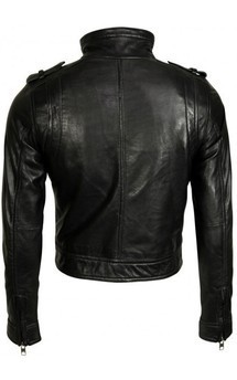 Viparo black premium nz lambskin biker moto leather jacket - ivy by VIPARO Product photo