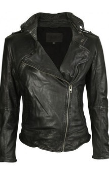 Viparo black premium nz asymmetrical biker lambskin leather  jacket - kendall by VIPARO Product photo