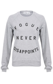 Vogue never disappoints sweater grey marl by Off Dutee Product photo