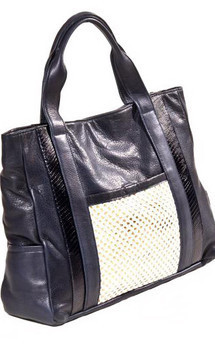 Porter leather tote bag navy by Amy George Product photo