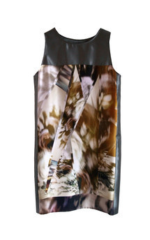 Aw 14 green print shift dress  by Silence Beyond Syllables Product photo