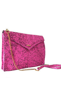 Edie clutch neon pink by Amy George Product photo