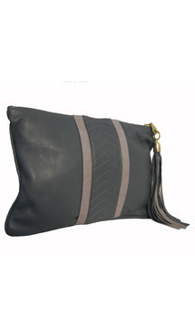 Ivy leather clutch bag by Amy George Product photo