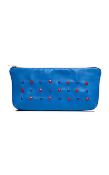 zoomable multicolour studs cosmetic bag by Cristina Adami Product photo