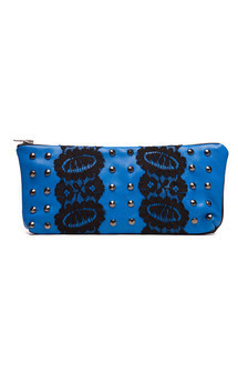 Cosmetic purse with lace and studs by Cristina Adami Product photo