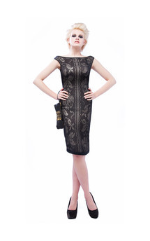 Black pencil dress by Cristina Adami Product photo