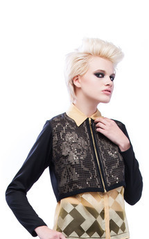 Lace cropped jacket by Cristina Adami Product photo