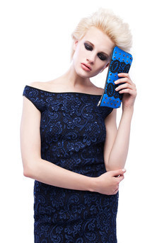 Off shoulder lace pencil dress by Cristina Adami Product photo