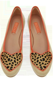 Ory nude & cheetah flats by Taschka Product photo