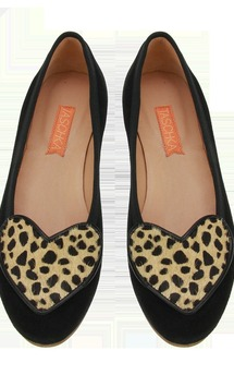 Ory black & cheetah flats by Taschka Product photo