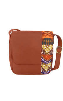 Tan leather cross-body bag by Mefie Product photo