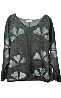 Charcoal silver hearts jumper by SLC-SLC Product photo