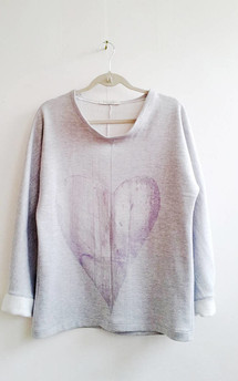 Silver heart sweater by SLC-SLC Product photo