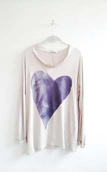 Purple heart tunic by SLC-SLC Product photo