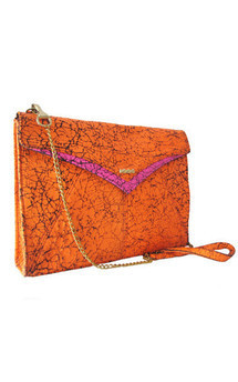 Edie clutch neon orange by Amy George Product photo