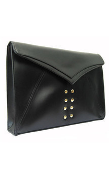 Edie clutch black stud by Amy George Product photo