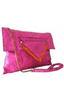 Sofia clutch neon pink by Amy George Product photo
