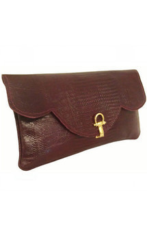 Savannah clutch burgundy by Amy George Product photo