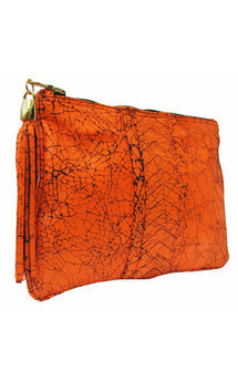 Ivy clutch neon orange by Amy George Product photo