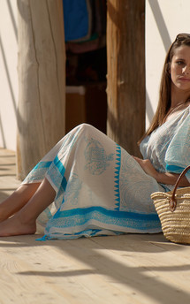 Yasmin long kaftan by La Mandarine Beachwear Product photo